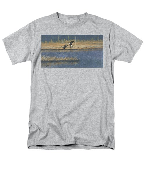 Men's T-Shirt  (Regular Fit) featuring the painting Geese by Richard Faulkner