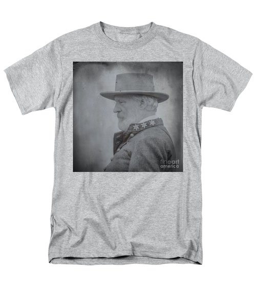 General Robert E Lee Portrait  Men's T-Shirt  (Regular Fit) by Randy Steele
