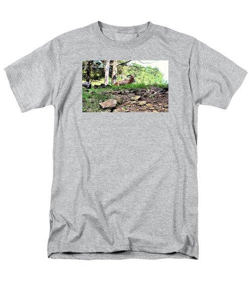 Georgia Mountain Goat At Rest Men's T-Shirt  (Regular Fit) by James Potts