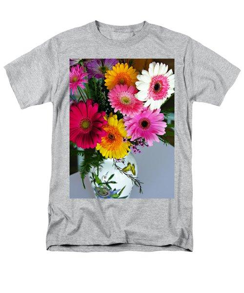 Gerbera Daisy Bouquet Men's T-Shirt  (Regular Fit)