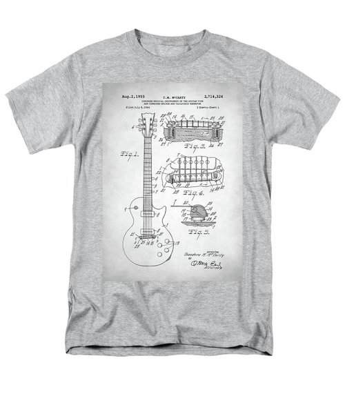 Men's T-Shirt  (Regular Fit) featuring the digital art Gibson Les Paul Electric Guitar Patent by Taylan Apukovska