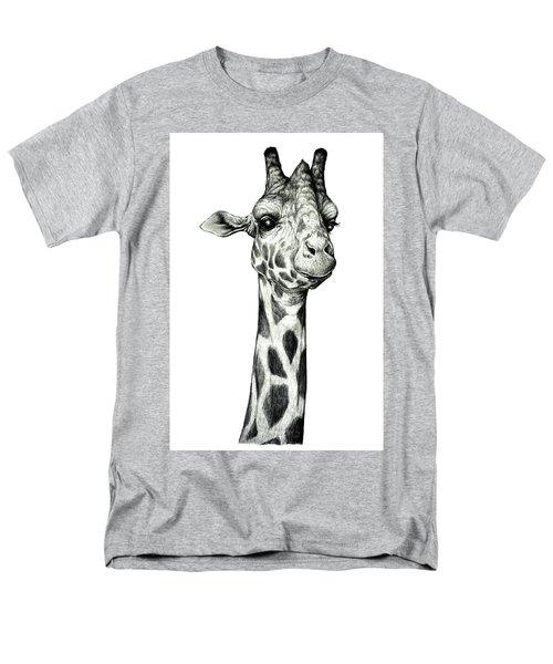 Men's T-Shirt  (Regular Fit) featuring the drawing Giraffe by Heidi Kriel