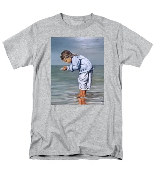 Men's T-Shirt  (Regular Fit) featuring the painting Girl With Shell by Natalia Tejera