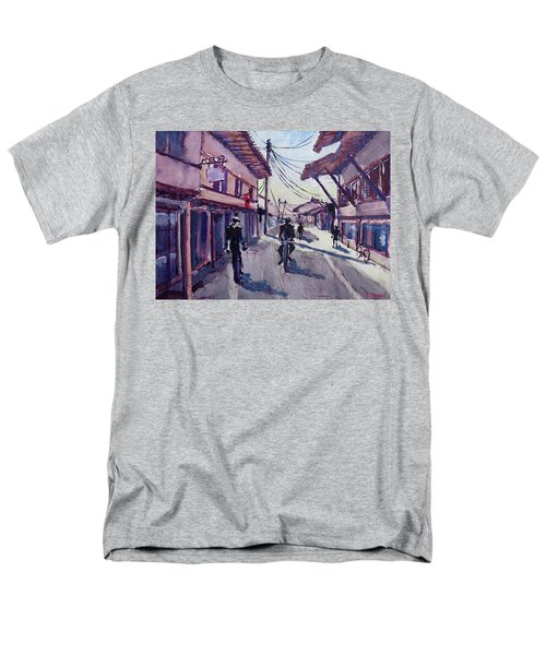 Men's T-Shirt  (Regular Fit) featuring the painting Gjakova by Geni Gorani