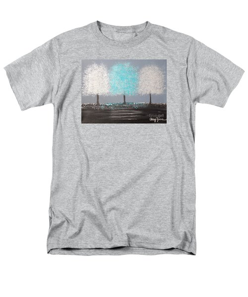 Men's T-Shirt  (Regular Fit) featuring the painting Glistening Morning by Stacey Zimmerman