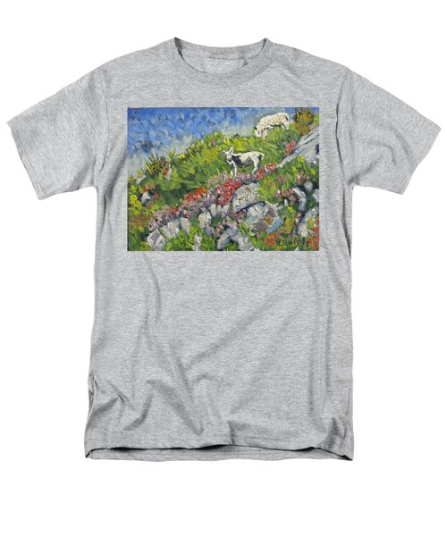 Goats On Hill Men's T-Shirt  (Regular Fit) by Michael Daniels