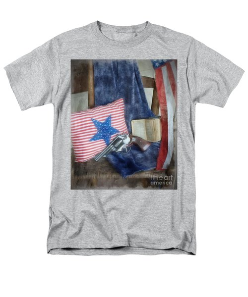 Men's T-Shirt  (Regular Fit) featuring the photograph God, Guns And Old Glory by Benanne Stiens