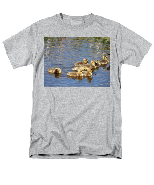 Men's T-Shirt  (Regular Fit) featuring the photograph Goslings N0.6336 by Janice Adomeit