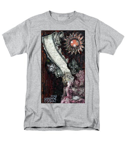 Men's T-Shirt  (Regular Fit) featuring the mixed media Gothic Punk Goddess by Genevieve Esson