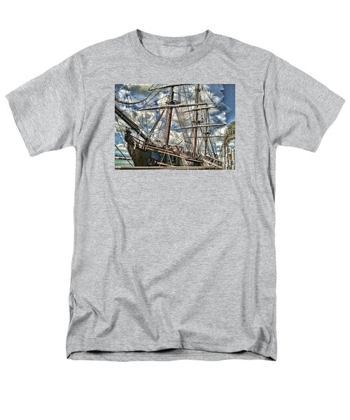 Men's T-Shirt  (Regular Fit) featuring the photograph Grand Old Sailing Ship by Roberta Byram
