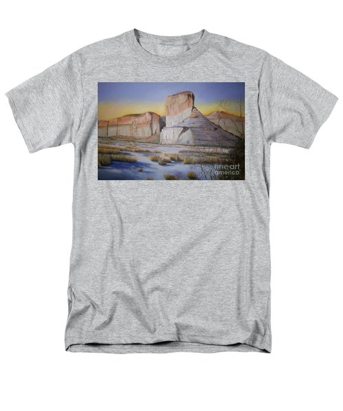 Men's T-Shirt  (Regular Fit) featuring the painting Green River Wyoming by Marlene Book