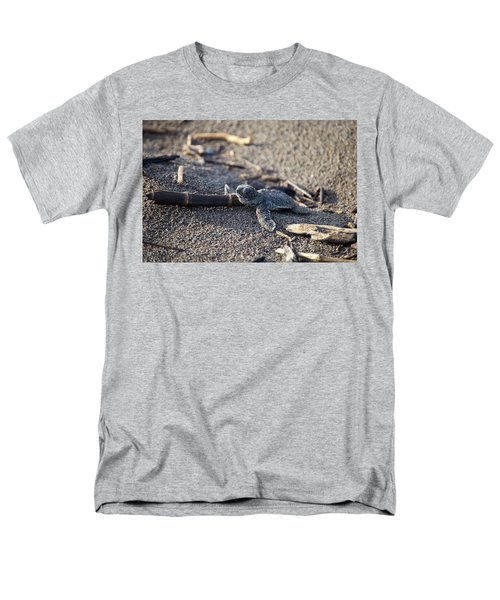 Men's T-Shirt  (Regular Fit) featuring the photograph Green Sea Turtle Hatchling by Breck Bartholomew