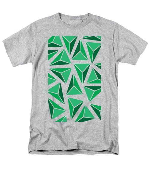 Green Triangle Geo Men's T-Shirt  (Regular Fit) by Cortney Herron