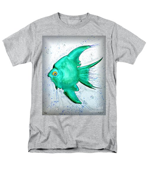 Men's T-Shirt  (Regular Fit) featuring the mixed media Greenfish by Walt Foegelle