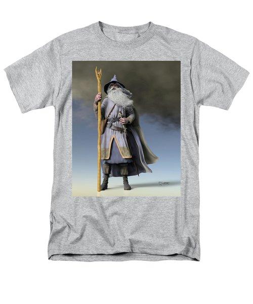 Grey Wizard Men's T-Shirt  (Regular Fit) by Dave Luebbert