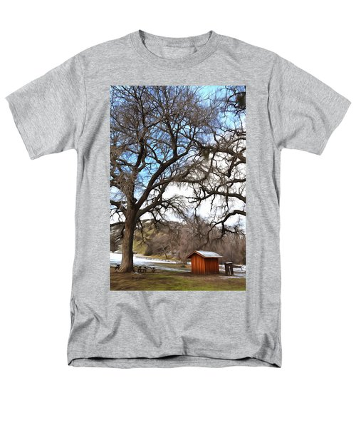 Men's T-Shirt  (Regular Fit) featuring the photograph Guard Shack At Fort Tejon Lebec California by Floyd Snyder
