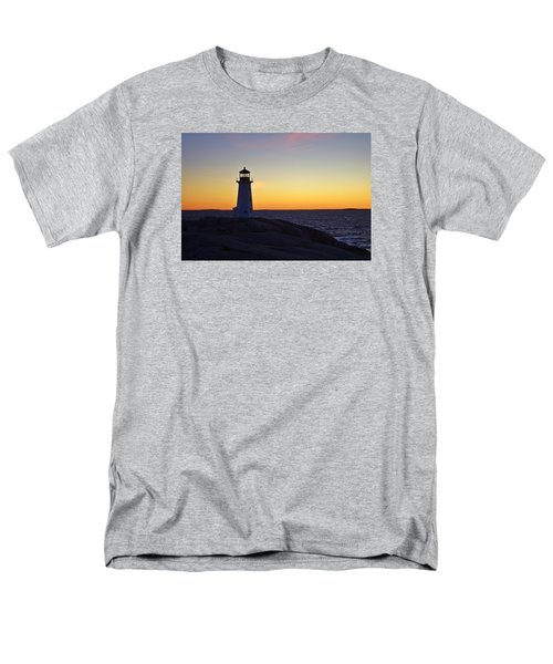 Peggy's Cove Lighthouse Men's T-Shirt  (Regular Fit) by Heather Vopni