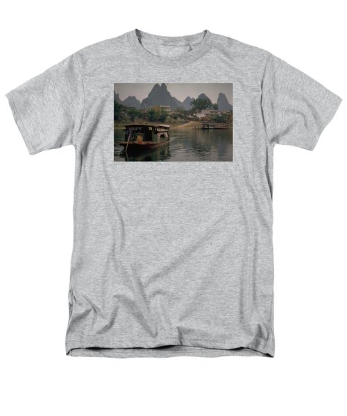 Guilin Limestone Peaks Men's T-Shirt  (Regular Fit) by Travel Pics