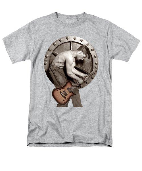 Men's T-Shirt  (Regular Fit) featuring the photograph Guitar Mechanic T Shirt by Martin Konopacki Restoration