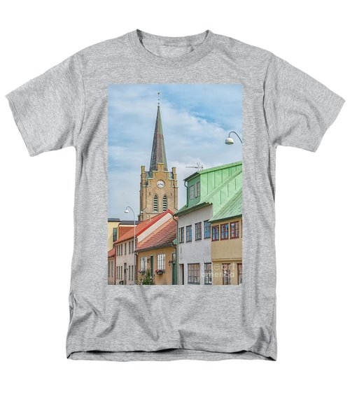 Men's T-Shirt  (Regular Fit) featuring the photograph Halmstad Street Scene by Antony McAulay