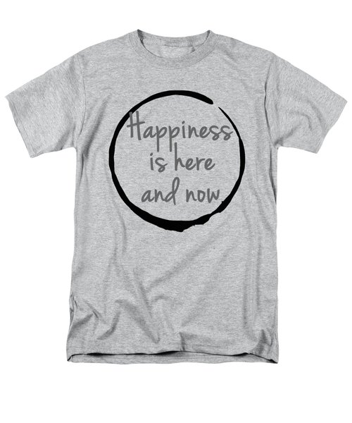 Men's T-Shirt  (Regular Fit) featuring the digital art Happiness Is Here And Now by Julie Niemela