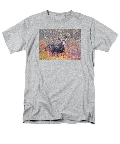 Happy Moose Men's T-Shirt  (Regular Fit) by Elizabeth Dow