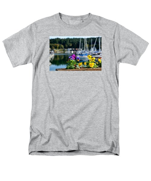 Happy Pansy Men's T-Shirt  (Regular Fit) by Tanya  Searcy