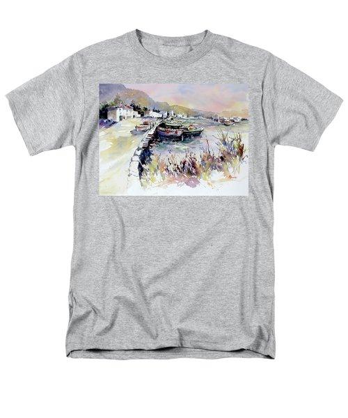 Harbor Shapes Men's T-Shirt  (Regular Fit) by Rae Andrews