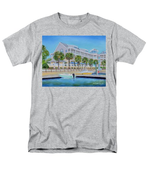 Men's T-Shirt  (Regular Fit) featuring the painting Harborside Marina by Shelia Kempf