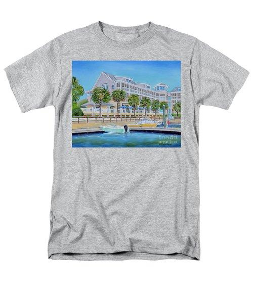 Harborside Marina Men's T-Shirt  (Regular Fit) by Shelia Kempf