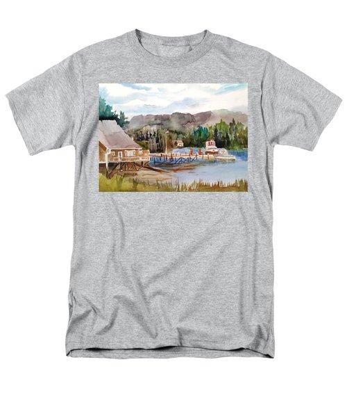 Harbour Scene Men's T-Shirt  (Regular Fit) by Larry Hamilton