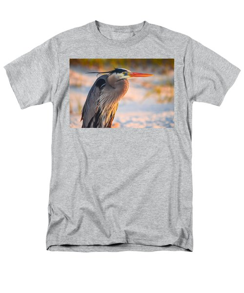 Harry The Heron With Plumage Close-up Men's T-Shirt  (Regular Fit) by Jeff at JSJ Photography