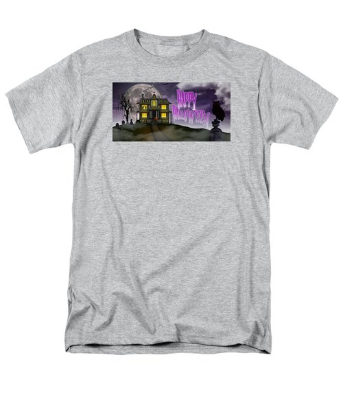 Haunted Halloween Men's T-Shirt  (Regular Fit) by Anthony Citro