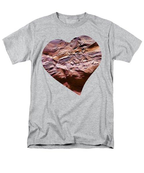 Heart Shape Stone Art Men's T-Shirt  (Regular Fit)