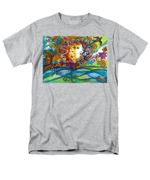 Men's T-Shirt  (Regular Fit) featuring the painting Helios And Ophelia Posterized by Genevieve Esson