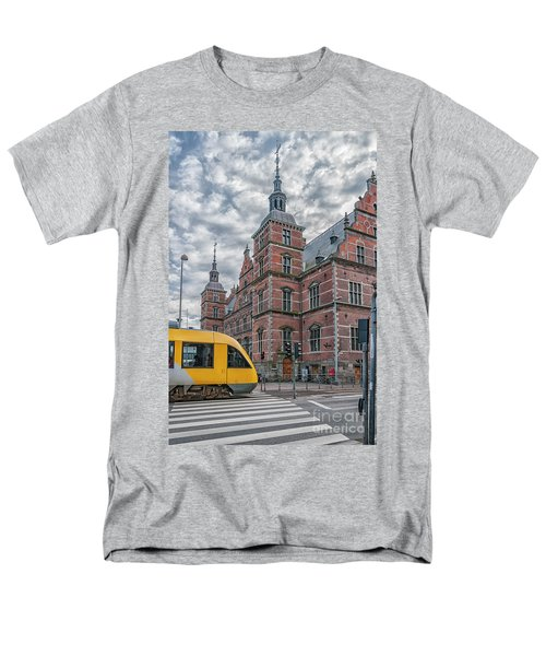 Men's T-Shirt  (Regular Fit) featuring the photograph Helsingor Train Station by Antony McAulay