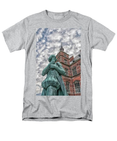 Men's T-Shirt  (Regular Fit) featuring the photograph Helsingor Train Station Statue by Antony McAulay