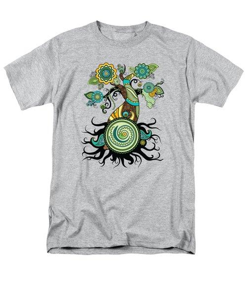 Henna Tree Of Life Men's T-Shirt  (Regular Fit) by Serena King