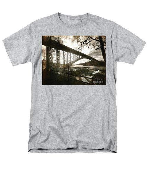 Men's T-Shirt  (Regular Fit) featuring the photograph Henry Hudson Bridge, 1936 by Cole Thompson