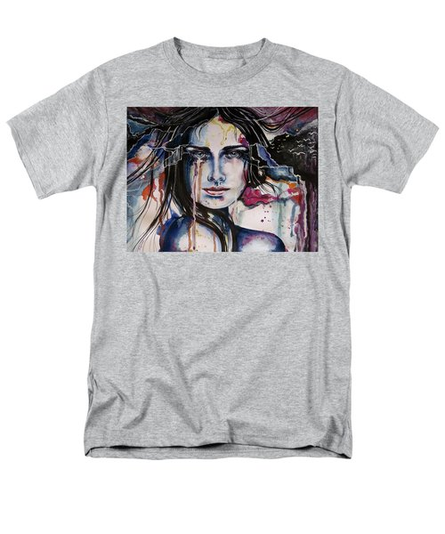 Men's T-Shirt  (Regular Fit) featuring the painting Her Sacrifice by Geni Gorani