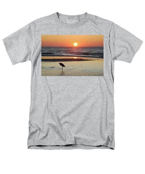 Heron Watching Sunrise Men's T-Shirt  (Regular Fit) by Michael Thomas