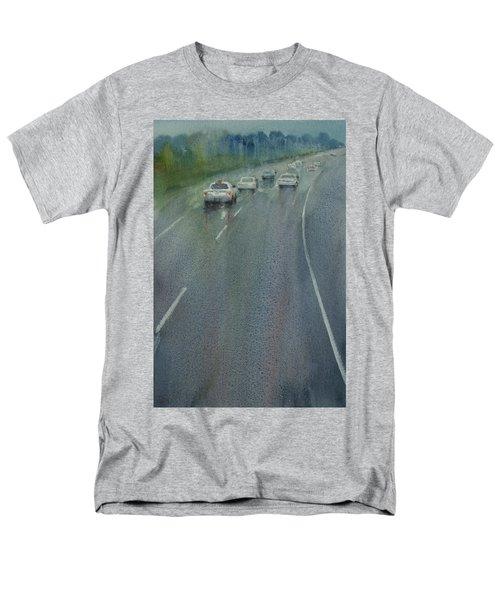 Highway On The Rain02 Men's T-Shirt  (Regular Fit) by Helal Uddin