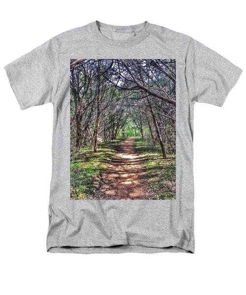 Hiking Meridian State Park  Men's T-Shirt  (Regular Fit) by Debra Martz