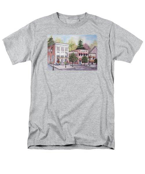 Men's T-Shirt  (Regular Fit) featuring the painting Historic Blue Ridge, Georgia by Gretchen Allen