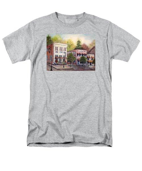 Men's T-Shirt  (Regular Fit) featuring the painting Historic Blue Ridge Shops by Gretchen Allen