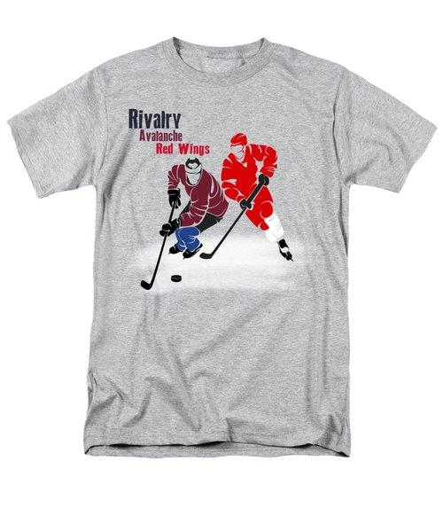 Hockey Rivalry Avalanche Red Wings Shirt Men's T-Shirt  (Regular Fit) by Joe Hamilton