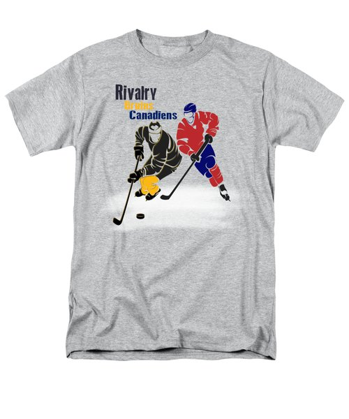 Hockey Rivalry Bruins Canadiens Shirt Men's T-Shirt  (Regular Fit) by Joe Hamilton
