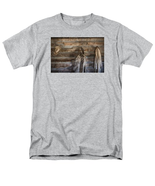 Hole-in-the-wall Cabin At Old Trail Town In Cody In Wyoming Men's T-Shirt  (Regular Fit) by Carol M Highsmith