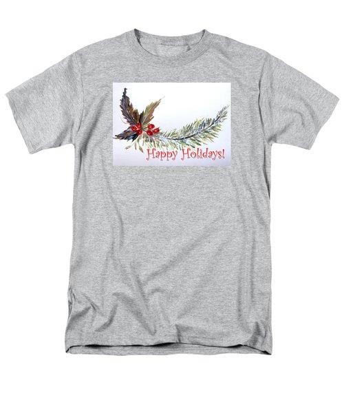 Holidays Card - 2 Men's T-Shirt  (Regular Fit) by Dorothy Maier