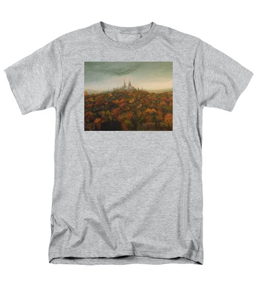 Men's T-Shirt  (Regular Fit) featuring the painting Holy Hill Rain Storm by Dan Wagner